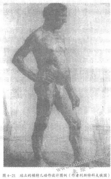 人体素描动作设计