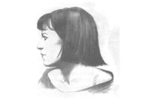 女性头部素描绘制实例