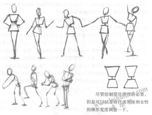 简化人体图的绘制方法01