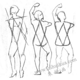 利用三角形绘制人体03