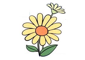 雏菊儿童画