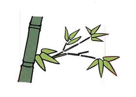 竹子儿童画法