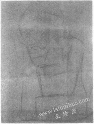 荷马石膏头像素描画法步骤01