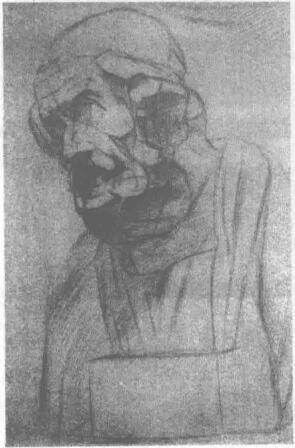 荷马石膏头像素描画法步骤03