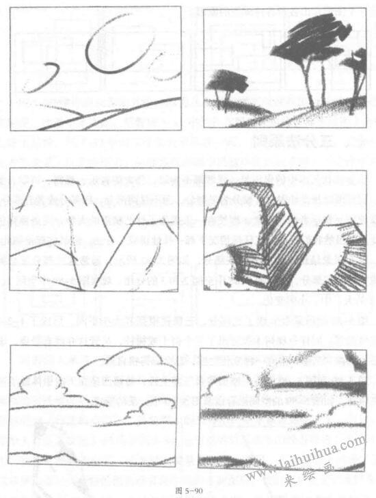 风景素描技巧:三分法原则02