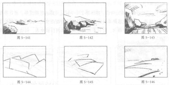 风景素描技巧:地面距离感02
