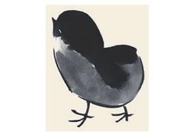 小鸡儿童国画
