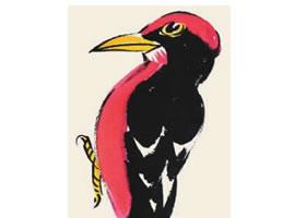 逐木鸟儿童国画