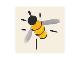 蜜蜂儿童国画