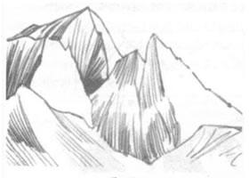 山岳素描绘制方法