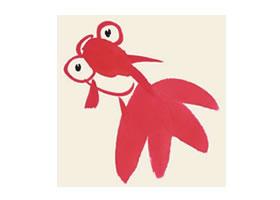 金鱼儿童国画