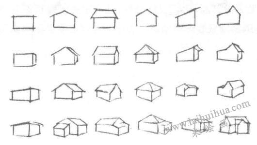 房屋素描绘制方法
