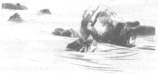 山石风景素描绘制方法02