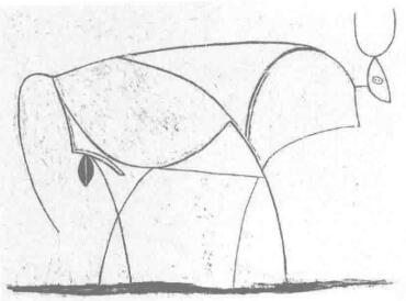 抽象公牛图