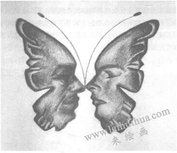 形状相似物体的替换作品一,设计素描替换法
