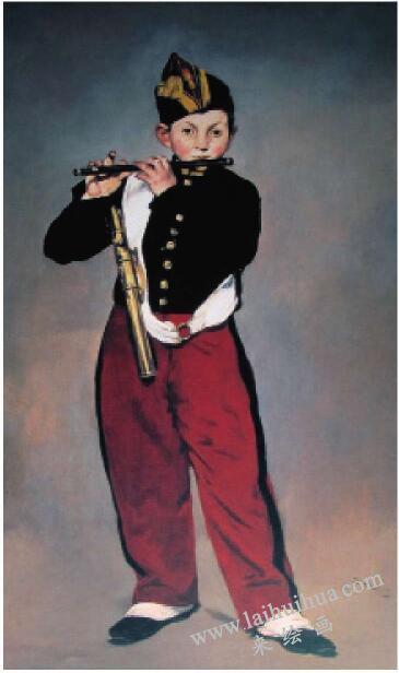《吹笛子的少年》【法国】马奈