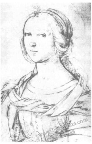 拉斐尔人像素描作品