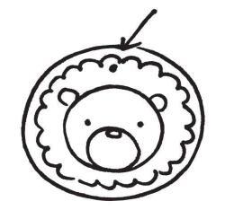 动物简笔画图案书签04