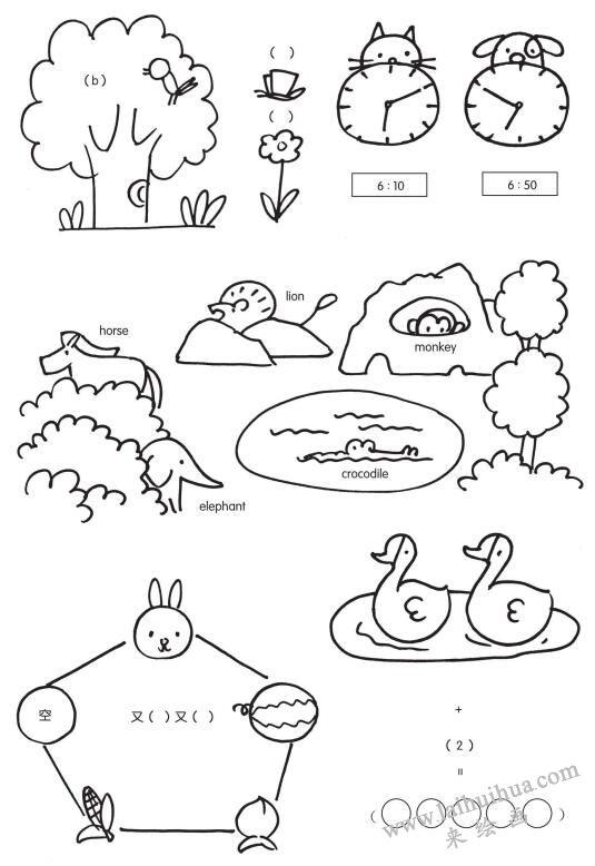 动物简笔画在墙报和板报的应用02