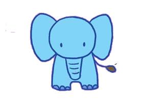 大象简笔画(一)