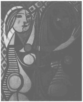 毕加索《少女临镜》