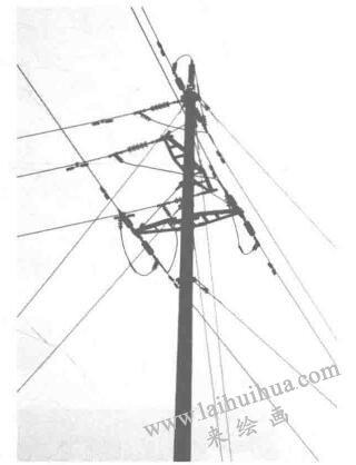 电线杆,设计素描