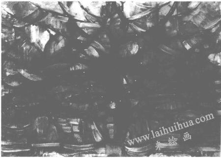 蒙德里安《灰树》