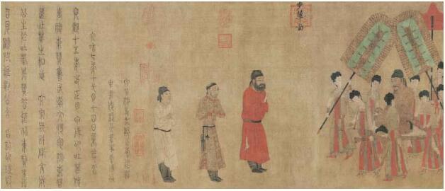 现藏故宫博物院的《步辇图》