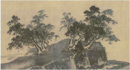 《山水十二景》中树的画法