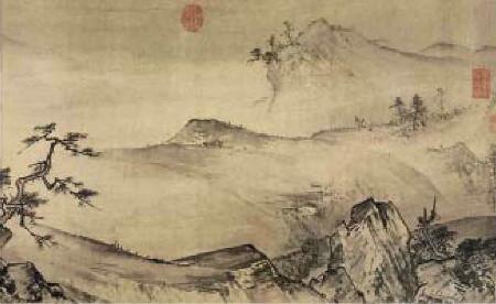 《溪山清远图》画首部分