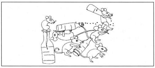 小老鼠偷油简笔画