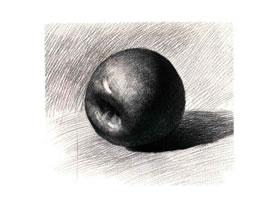 红苹果素描