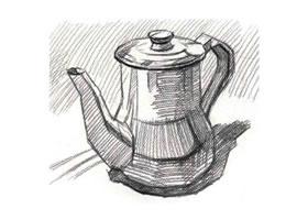 不锈钢水壶素描(一)
