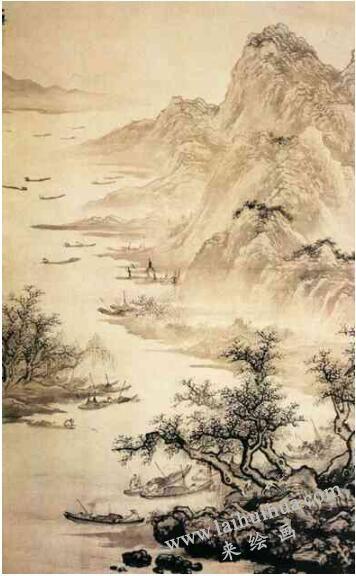 吴伟《江山渔乐图》