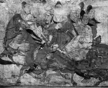 娄睿墓壁画(出行图)