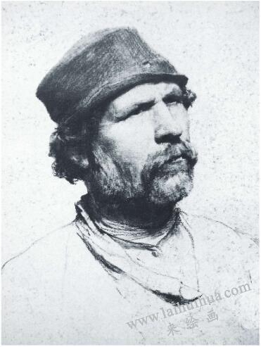 列宾《男子肖像》