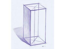 《石膏长方体》素描