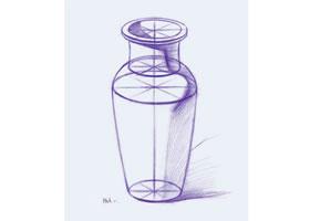 《陶罐》素描