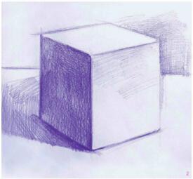 正方体素描表现步骤02