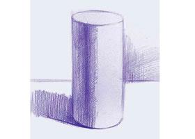 圆柱体素描