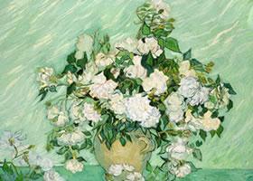 梵高《白玫瑰》油画