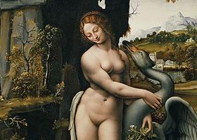 达芬奇《丽达与天鹅》 作品