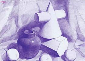 几何体组合素描的明暗画法