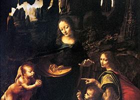 达芬奇《岩间圣母》作品