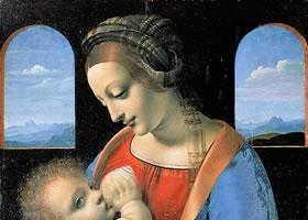 达芬奇《哺乳圣母》作品