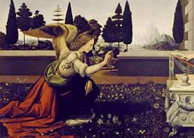 达芬奇《天使报喜》油画作品