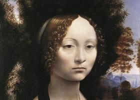 达芬奇《吉尼芙拉·得·本奇肖像》木板油画