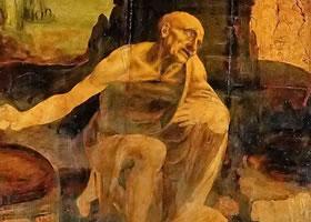 达芬奇《圣杰罗姆》油画作品