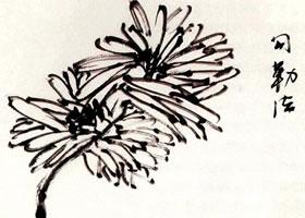 菊花勾勒法