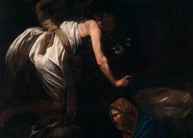 卡拉瓦乔《圣母领报》油画作品